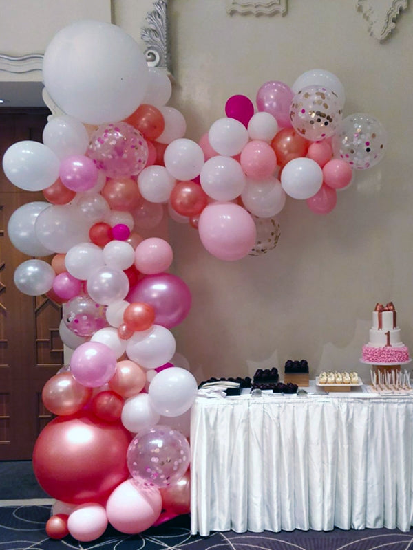 Girl's birthday half balloon arch - any color - PartyMonster.ae