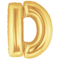 Letter D Golden Foil Balloon - 16in - PartyMonster.ae
