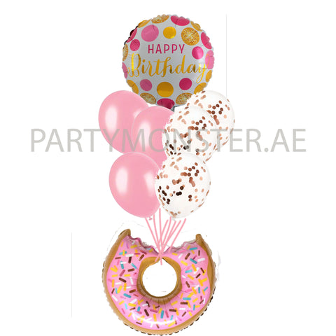 Donut birthday bouquet 01 - PartyMonster.ae