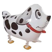Dalmation Dog Walking Balloon - 23in - PartyMonster.ae