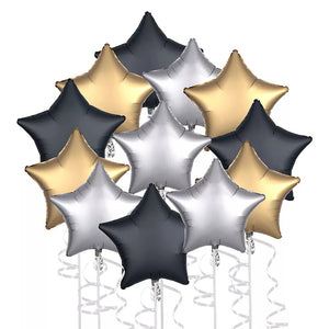 mixed stars shaped foil balloons for sale online in Dubai