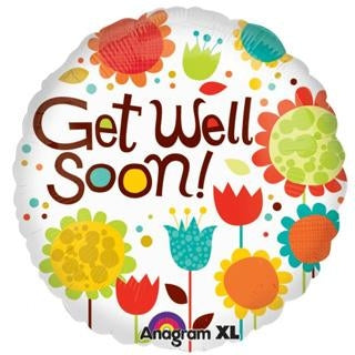 Get Well Soon Foil Balloon - 18 in - PartyMonster.ae