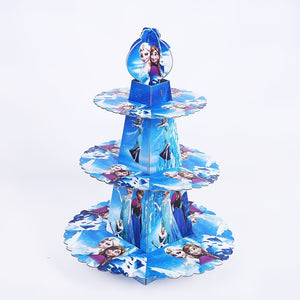 Frozen themed style 1 cupcake stand- 3 tier - PartyMonster.ae