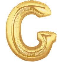 Letter G Golden Foil Balloon - 16in - PartyMonster.ae