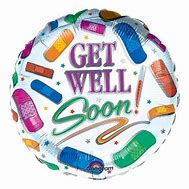 Get Well Soon Multicolored Foil Balloon-18in - PartyMonster.ae