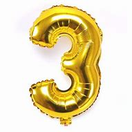 Gold Number 3 Balloon - 40inches (Three) - PartyMonster.ae