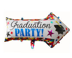 Graduation Party Pointer Colourful Foil Balloon -18in - PartyMonster.ae