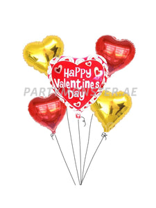 Happy Valentine's Day balloons bouquet - PartyMonster.ae