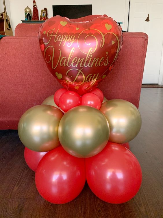 valentine's day balloon pillar for sale and delivery in Dubai