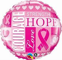 Breast Cancer Support Pink Foil Balloon-18in - PartyMonster.ae