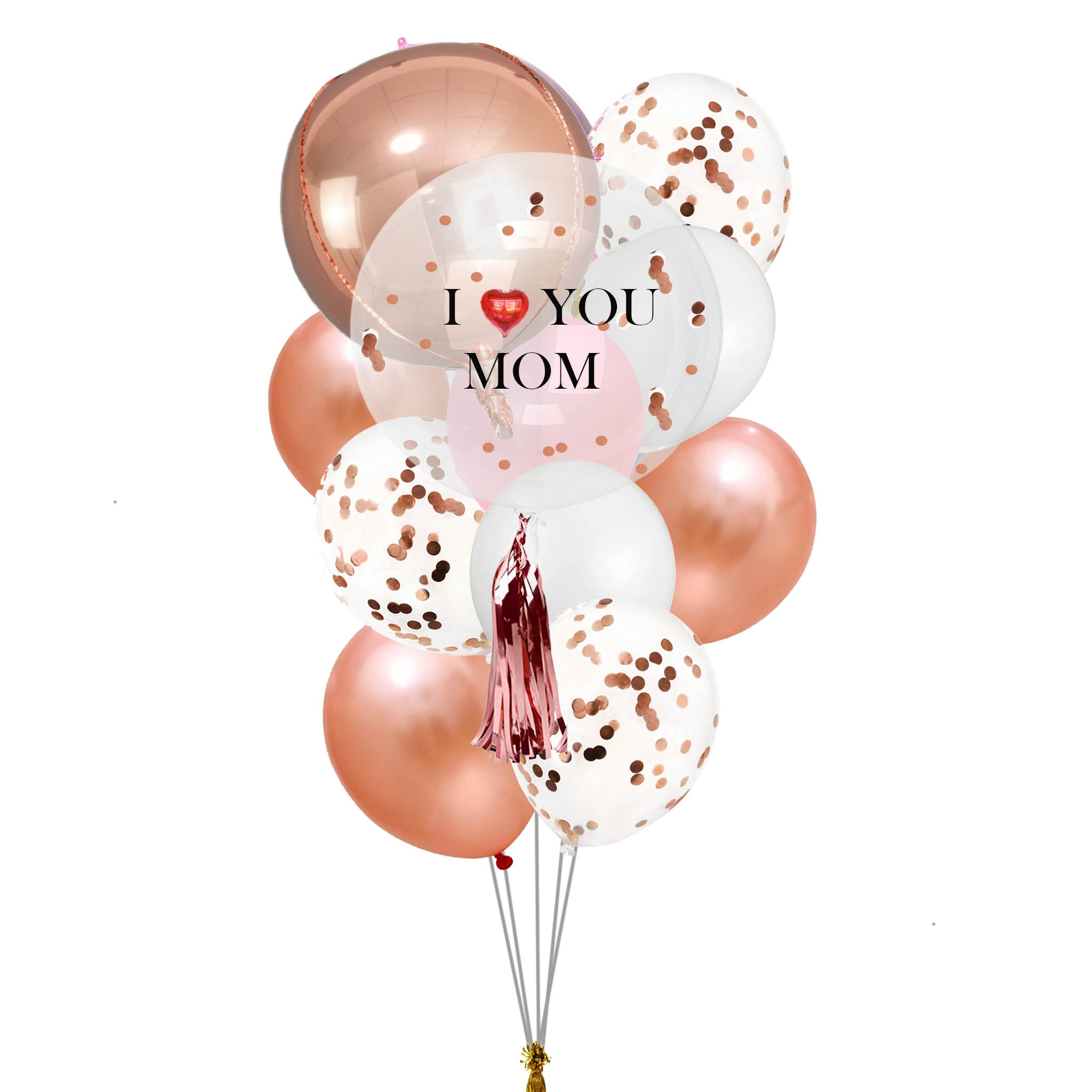i love you mom customized balloons bouquet special gift delivery in Dubai