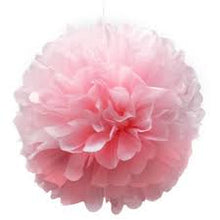 Pom Pom Hanging Tissue Decoration - Pink - PartyMonster.ae
