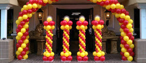 Balloon Arch Spiral Style - PartyMonster.ae