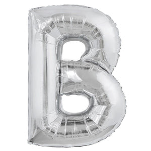 Letter B silver foil balloon for sale online in Dubai