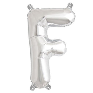 Letter F silver foil balloon for sale online in Dubai
