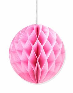 Baby Pink honeycomb party decoration - 25cm - PartyMonster.ae
