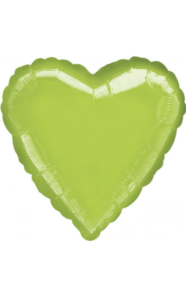 Lime Green Color Heart Shaped Balloon - 18