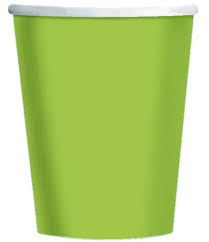 Lime Green Paper Cups - 10pcs - PartyMonster.ae