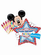 Mickey Mouse with Happy Birthday Star Foil- 16in - PartyMonster.ae