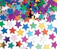 Multi mixed colour star confetti - PartyMonster.ae