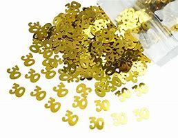 Number 30 gold confetti