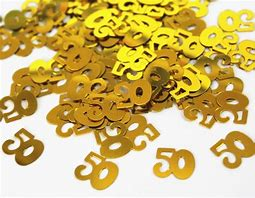 Number 50 Golden Confetti - PartyMonster.ae