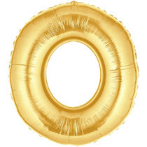 Letter O Golden Foil Balloon - 40in - PartyMonster.ae