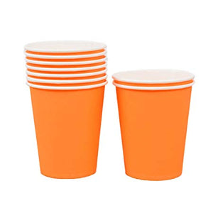 Orange Paper Cups - 10pcs - PartyMonster.ae