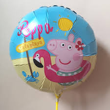 Peppa Pig Round Foil Balloon-18in - PartyMonster.ae
