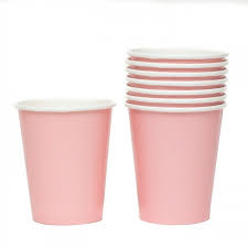 Baby Pink Paper Cups - 10pcs - PartyMonster.ae