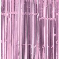 Pink Tassel/ tinsel Foil curtain, backdrop 2m - PartyMonster.ae