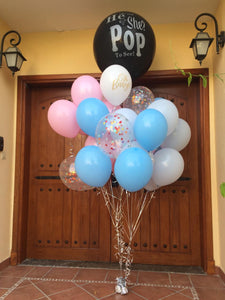 he or she pop to see gender reveal balloons bouquet for sale online in Dubai
