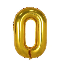 Numbers 0 to 9 Golden Foil Balloon - 40in - PartyMonster.ae