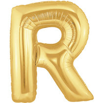 Letter R Golden Foil Balloon - 40in - PartyMonster.ae
