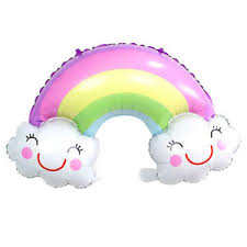 Rainbow Cloud Foil Balloon