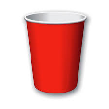 Red Paper Cups - 10pcs - PartyMonster.ae
