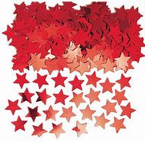 Red Star Confetti - PartyMonster.ae