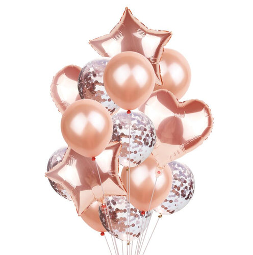 Rose gold mixed bouquet - PartyMonster.ae