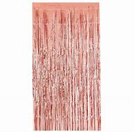Rose Gold Tassel/ tinsel Foil curtain, backdrop 2m - PartyMonster.ae