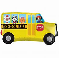 School Bus Yellow and Black 80x87cm - PartyMonster.ae