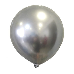 Silver chrome latex balloons for sale online in Dubai