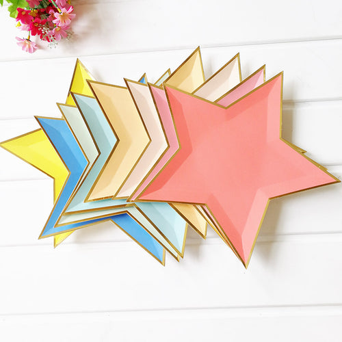 Star shaped plates - 8pieces in a bag - PartyMonster.ae
