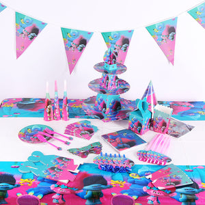 Trolls themed party supplies for sale online in Dubai