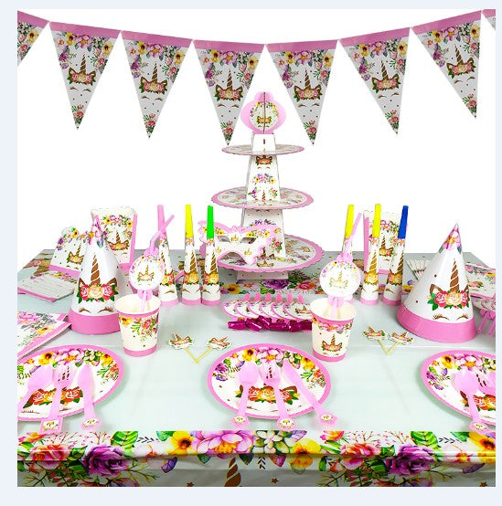 Unicorn themed party supplies for sale online in Dubai