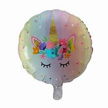 Unicorn Foil round balloon- 18inches