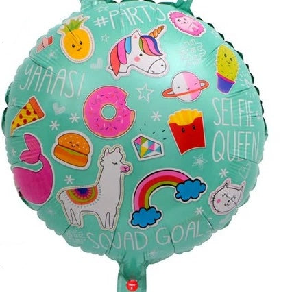 Unicorn Foil Round Balloon-18inches