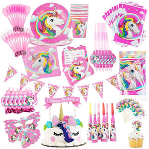 Unicorn table cutlery/party set - PartyMonster.ae