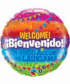 Welcome Multi colored Foil Balloon-18in - PartyMonster.ae
