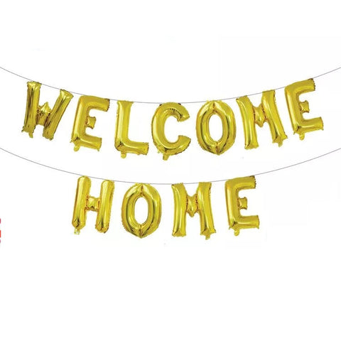 Welcome Home foil balloons bunting banner set - PartyMonster.ae