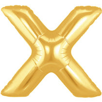 Letter X Golden Foil Balloon - 16in - PartyMonster.ae